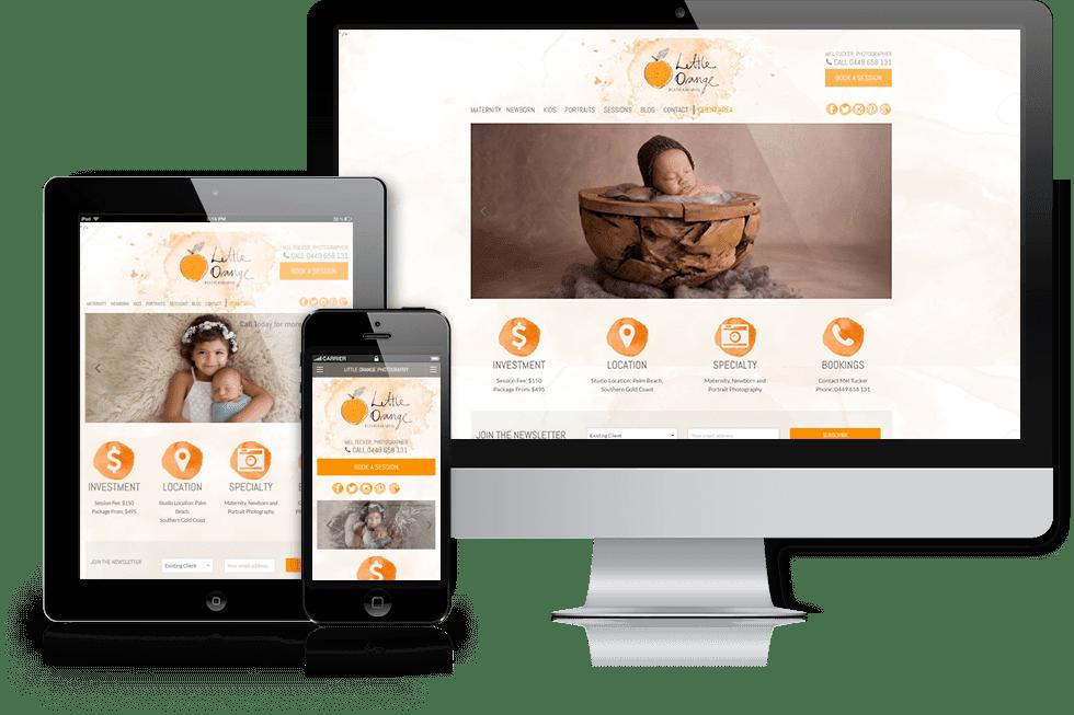 Little Orange Photography webiste screenshot