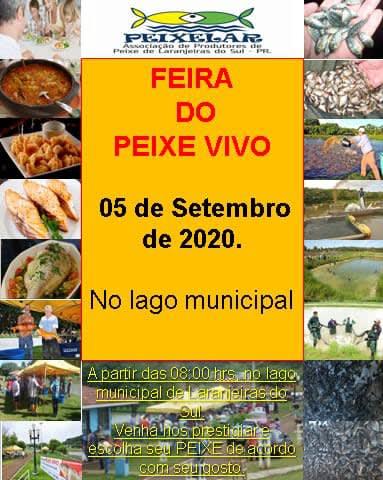 Amanhã (05) têm feira do peixe vivo