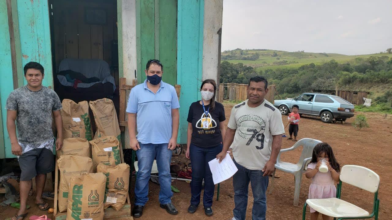 IDR-Paraná atende famílias em vulnerabilidade social na região de Laranjeiras do Sul