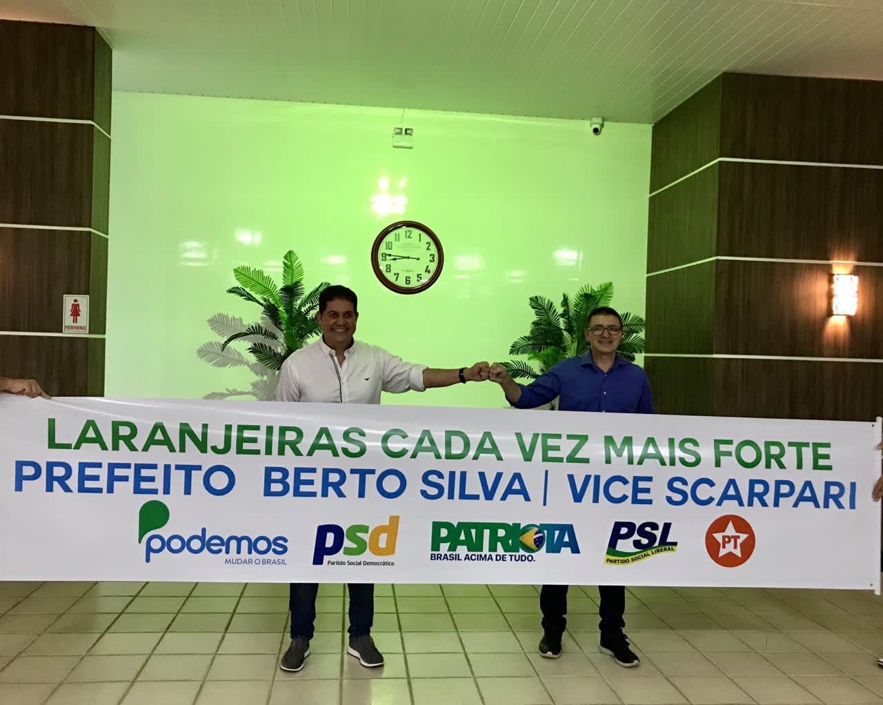 Podemos definiu em convenção Berto Silva como Candidato a prefeito