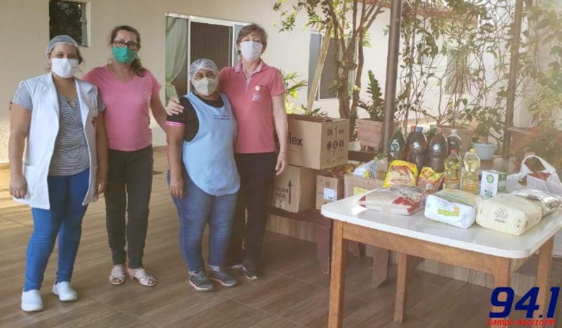 ASR entrega alimentos ao Asilo de Laranjeiras do Sul