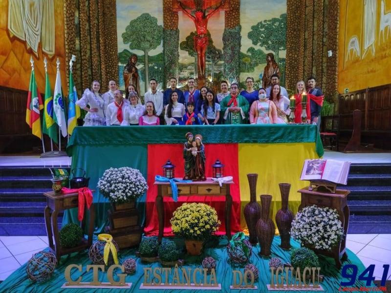 Missa Farroupilha e Mostra Cultural celebraram o Dia do Gaúcho em Laranjeiras do Sul