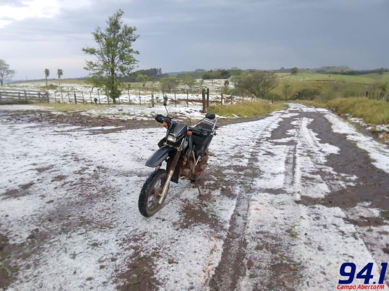 Chuva de Granizo de grande intensidade é registrada na região de Marquinho