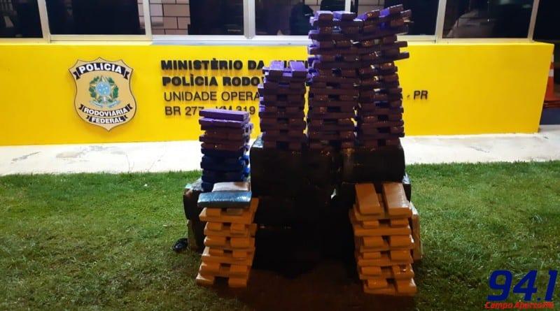 PRF apreende mais de 280 quilos de maconha em Guarapuava (PR)