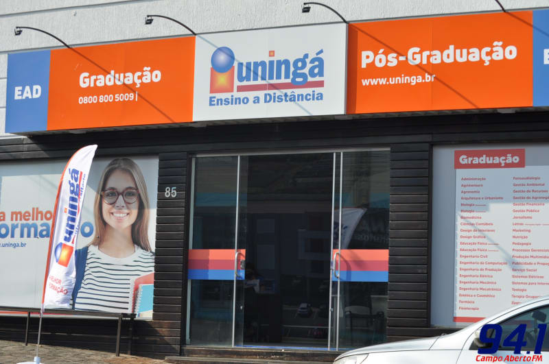 De portas abertas em Laranjeiras do Sul o Centro Universitário Uningá