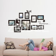 10x Picture Photo Frame Set Wall Frames Sticker Vinyl Decal Home Gift