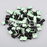 100pcs Self-adhesive Rectangle holder Wire Tie Cable Mount install Clamp Clip