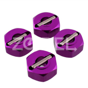 Purple Wheel Hex 4PCS 12mm Part P Mount For 1/10 RC Model Car Part Himoto