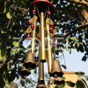 Antique Amazing Deep Resonant 4 Tubes Chapel Bells Wind Chimes Home Decor