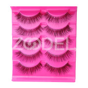 Fashion 5 Pairs Natural Sparse Makeup Long Fake False Eyelashes Thick