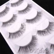 5Pairs Natural Sparse Cross Eye Lashes Extension Beauty