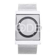 Creative Luxury Fashion Men Square Stainless Steel Wrist Watch Gift Black