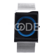 Creative Luxury Fashion Men Square Stainless Steel Wrist Watch Gift Blue
