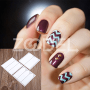 18 Sheets DIY French Nail Art Tips Tape Guide Stencil Manicure Form Stickers DIY