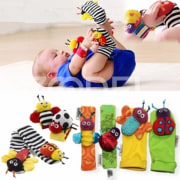 1 Pair Baby Infant Kids Developmental Cute Animal Bells Foot Socks Rattles