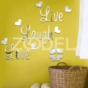 Live Love Laugh Craft Kid Child Baby Bedroom Kitchen Livingroom Wall Sticker