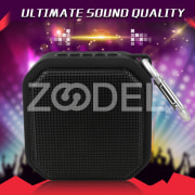 Bluetooth Mini Portable Outdoor LED Bass Speaker Subwoofer with TF AUX FM Radio