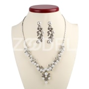 Fashion Elegant Gorgeous Handmade Pearl Pendant Necklace Set Gifts For Lady