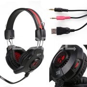 Super Bass Gaming Headset Headband LED Headphone Earphone With Mic For PC Gamer