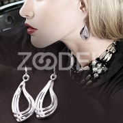 Fashion Delicate Grace Women Lady's 925 Silver Plated Dangle Ear Hoop Earrings
