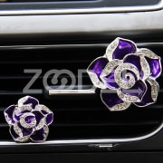 1PCs Car Flower Solid Vent Clip Perfume Freshener Diamond Air Conditioner Style