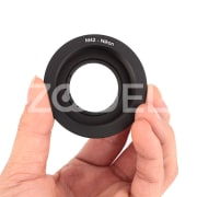 M42 Camera Lens Mount Ring with Glass Focus Infinity for Nikon Ai SLR DSLR Black