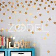 Scandinavian style Removable golden dots children house DIY decoration wall