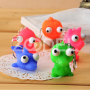 Lovely Funny Gadgets Vent Stress Reliever Burst Eyes Dolls Keychain Keyring