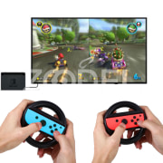 Round Steering Wheel Handles Gamepad Holder Mount Stand For Nintendo Switch Game