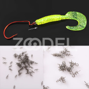 100Pcs Lure Baits Hook Pin Spring Fixed Fishing Screw Needle Soft Worm