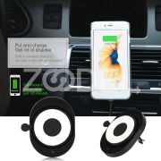 Car Wireless Charger Qi Wireless Charger Portable Plastic DC5V 1A Phone Stand Travel Charging Mount Holder Replacement