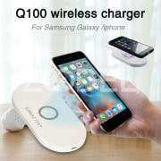 Q100 Charging Dock Lightweight with LED Light Plastic Fast Charge Smartphone Accessories Charing Pad Outdoor Office
