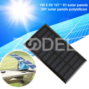 Photovoltaic Panels Solar Panel Durable 1W 107X61mm Module DIY Solar Cells Charging Solar Energy Board
