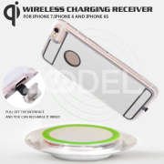 Wireless Charging Recei Qi Wireless Receiver Case Portable DC 5V Silver Protective Shell Dustproof Accessories Replacement