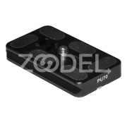 PU 70 Quick Release Plate Premium Black Aluminum Alloy Support Quick Shoe QR Plate Hand Screw Anti Slip