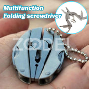 Folding Pliers Key Chain Mini Foldable Stainless Steel Survival Outdoor Knife Screwdriver Camping Wire