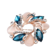 Scarf Buckle Breastpin Exquisite Flower Gem Jewelry Wedding Brooch Gift Women