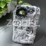 Fashion Wool Plush Fur Phone Cover Case For iPhone Hair Bling Diamond Crystal