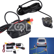 Rear View Camera Car Reversing Kit Premium 2 Radar IP67 Detector Waterproof Parking Radar Sensors Recording