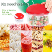 Vegetable Fruit  Shredder Vegetable Chopper Practical Red ABS Fruit Manual Vegetable Spiral Slicer Grinder Multifunction