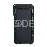 Dual USB Mobile Battery Charger Solar Charger Portable 15000mAh with Flashlight Travel Shockproof Solar Power Bank Waterproof