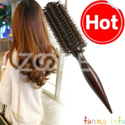 Boar/Nylon Wooden Handle Round Large 20cm Hair Curling Styling Roller Brush Comb
