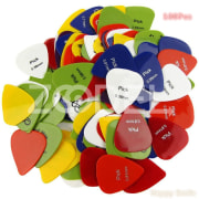 100Pcs Bass Guitar Picks Alice Multi Soft ABS Electric Acoustic Custom Guitar Pick Tines Accessories for Musical Instruments Barbed