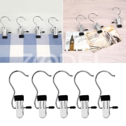 10pcs/set Portable Laundry Metal Hook Clothes Pin Boot Shoes Hanger Hold Clip