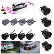 4pcs/lot Sensors Buzzer No Drill Hole Saw 2.5m Car Parking Sensor Kit Reverse Radar Sound Alert Indicator System