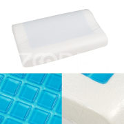 1Pcs Sleep Contour Memory  Foam Bed Pillow Blue Cooling Gel Orthopedic Sleep Cover