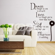 Removable Dandelion Flowers Wall Stickers Romantic Flower Sticker Home Decor