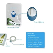 600mg Digital Ozone Generator Ozonizer Oil Meat Fruit Vegetable Sterilizer Fresh Air Purifiers