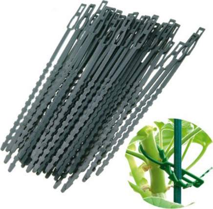 100pcs Adjustable Plastic Plant Cable Ties For Garden Tree Climbing Vine Support