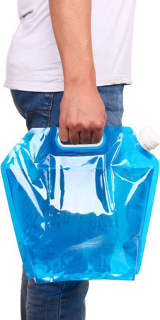 10L Folding Water Lifting Bag Drinking Container Storage Camping Hiking Picnic